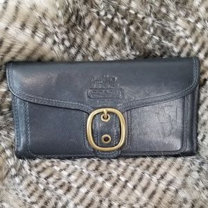 Authentic Coach Charcoal Leather Wallet